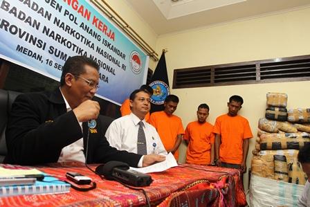 Kunjungan Kerja Kepala BNN RI ke BNNP Sumut di Medan. (Foto: Humas dan Dokumentasi BNN).