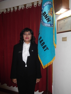 Kepala BNNK Garut, AKBP Widayati, BA seusai Dilantik, Senin (23/09). Foto: John.