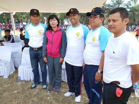 AKBP Widayati antara lain Bersama Bupati dan Wakapolres Garut. (Foto: John).