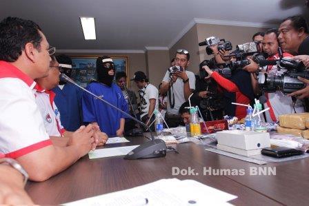 Kombes Sumirat Dwiyanto Sampaikan Keterangan Pers. (Foto: Humas dan Dokumentasi BNN).