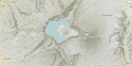 OPEN CYCLE MAP Peta kawasan Gunung Rinjani di Lombok. Rinjani merupakan bagian dari Gunung Samalas yang meletus hingga melumpuhkan dunia pada tahun 1257. Superletusan mengakibatkan terbentuknya kaldera dan danau.
