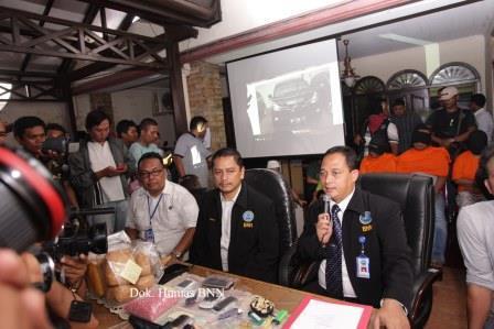 BNN Gelar Konfrensi Pers. (Foto: Humas dan Dokumentasi BNN).