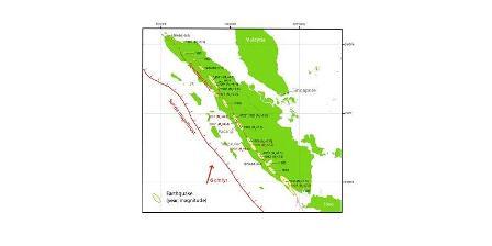 Patahan Sumatera dan gempa-gempa pernah diakibatkan aktivitasnya. Patahan Sumatera dianggap batas antara wilayah Sumatera masuk lempeng Eurasia dengan busur kepulauan. (siaga.org).