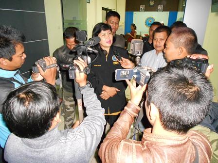 Ilustrasi, Kepala Badan Narkotika Nasional Kabupaten (BNNK) Garut, AKBP Widayati, BA Jelaskan P4GN pada Pers. (Foto: John).