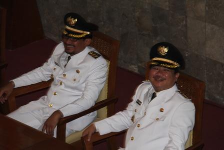 Bupati dan Wakil Perioede 2014-2019. (Foto: John Doddy Hidayat).