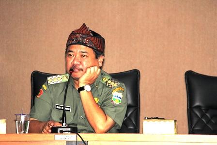 Bupati Rudy Gunawan. (Foto: John Doddy Hidayat).