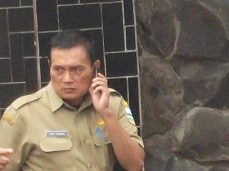 Tedi Iskandar, Ketus Membantah Lamban Tangani Pasar Cibatu. (Foto: John Doddy Hidayat).