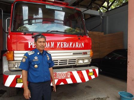 Kepala UPTD Damkar Garut, Wawan Sobarwan, S.Sos.