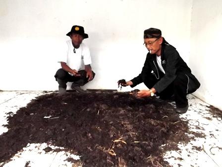 Asep Sal Bersama Ombi Kelola Permentasi Pupuk Organik Eceng Gondok.