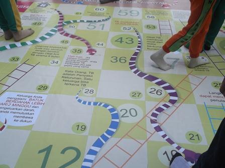 Permainan Ular Tangga Simulasi Pencegahan Bahaya Penularan TB Paru. (SB).