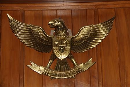 Garuda Pancasila. (Foto: John DH).