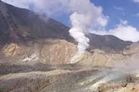 Kaldera Gunungapi Papandayan. (Ist).