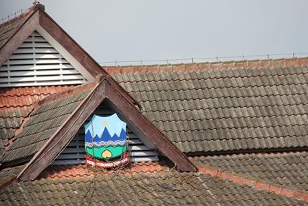 Inilah Atap Gedung DPRD Garut. (Foto : John Doddy Hidayat).