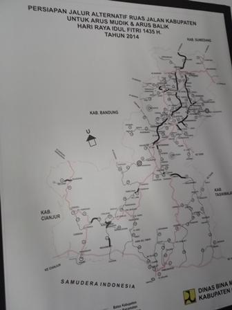 Peta Lintasan Jalan.