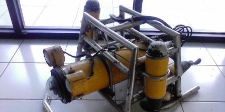 RJBA 45, robot bawah air pemantau terumbu karang. (Diandra Yulius Gita Pramudita).