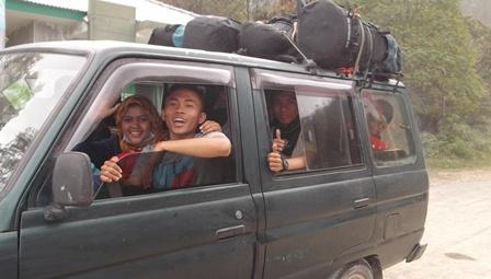 Rombongan Mahasiswa Jurusan PJKR UNSIL Tasikmalaya.