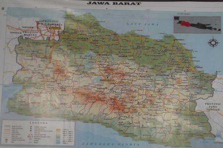 Peta Provinsi Jawa Barat.