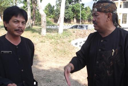 Eded K. Nugaraha Sampaikan Instruksi pada Kepala UPTD Bina Marga Cibatu, Haryadi.