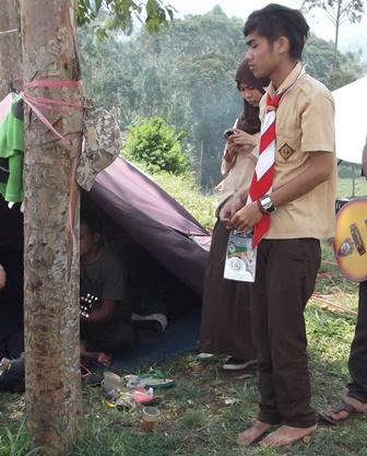 Ilustrasi. Perkemahan Pramuka. (Foto : John Doddy Hidayat).
