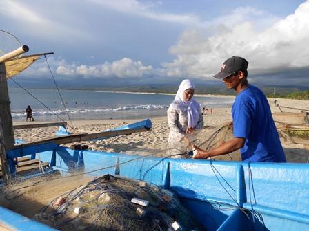 Nelayan Selatan Garut. (Foto : John Doddy Hidayat).