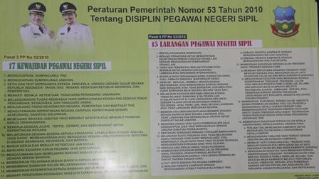Ilustrasi. Ini Peraturan Bukan Baliho Iklan.... Bro. (Foto : John Doddy Hidayat).