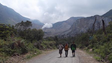 Gunungapi Papandayan.