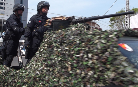 Ilustrasi. Puncak HUT TNI di Garut, Jabar. (Foto : John Doddy Hidayat).