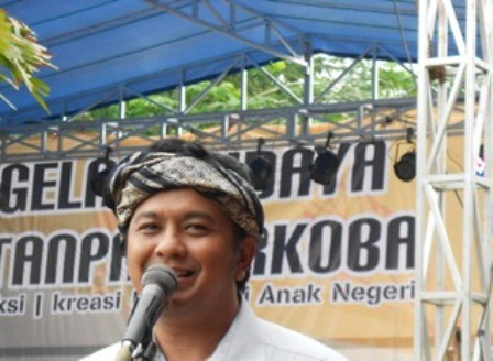 Ilustrasi. R. Diky Chandra Negara Pada Gelar Budaya Tanpa Narkoba di Garut, Jawa Barat. (Foto : John Doddy Hidayat).