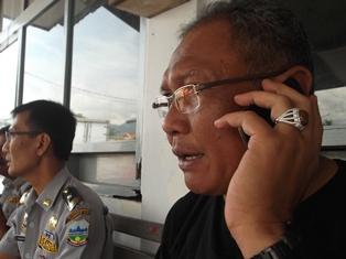 Kadishub Garut, Wahyudijaya Bersama Kabid Lalin, Bambang.
