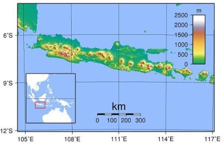 Pulau Jawa. (Wikipedia).