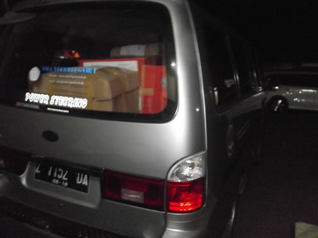 Lembar Jawaban Soal UN Menjelang Diberangkatkan ke UPI Bandung.