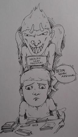 Ilustrasi Muhammad Erwin Ramadhan. (Foto : John Doddy Hidayat).
