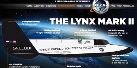 XCOR Lynx Mark II. (Ars Technica).