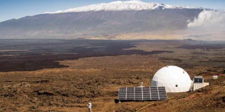 Tempat simulasi kehidupan di Mars selama setahun di Hawaii.(NEIL SCHEIBELHUT/UNIVERSITY OF HAWAII AT MANOA/AFP).