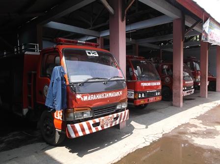 Lima Unit Mobil Damkar Tak Bisa Maksimal Dioperasionalkan.