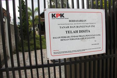 Ilustrasi. Sebuah Vila di Kampung Panawuan, Tarogong Kidul, Garut, Jabar, Kini Masih Menjadi Sitaan KPK. (Foto: John Doddy Hidayat).