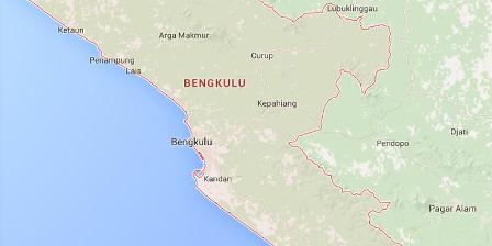 Bengkulu. (google map).