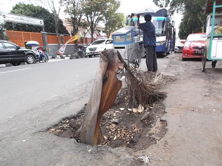 Bahayakan Para Pengguna Jasa Jalan, Sehingga Warga Kota Menandainya.