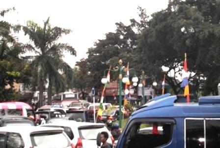Ilustrasi. Garut Juga Kerap Dikepung Kemacetan Arus Lalulintas.