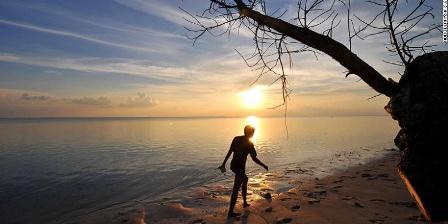Gerhana matahari total bisa disaksikan di Sulawesi pada 9 Maret 2016. (AFP/Getty Images/Adek Berry).