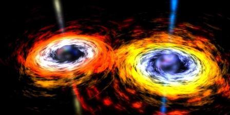 Gelombang gravitasi terdeteksi lewat riset dengan fasilitas LIGO. Penemuan yang diumumkan Kamis (11/2/2016) ini membuktikan kebenaran pendapat Einstein dan menandai awal baru dalam fisika. (NASA).