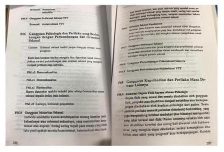 Pedoman Penggolongan Diagnosis Gangguan Jiwa (PPDGJ) III halam 288 dan 289. (dr Andri SpKJ FAPM).