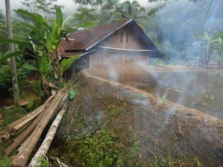 Rumah Penduduk Dibawah Hamparan Sawah.