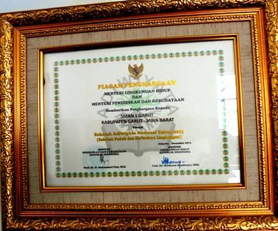 Salah-satu Penghargaan Tingkat Nasional.