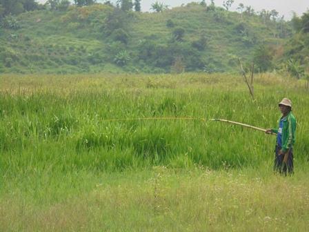 Penduduk Kerap Memancing di Rawa Ranca Gabus Seluas Delapan Hektare yang Hingga Kini Terlantar.