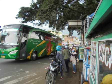 Titik Lokasi rawan Kemacetan Lintasan Bundaran Tarogong Kaler.