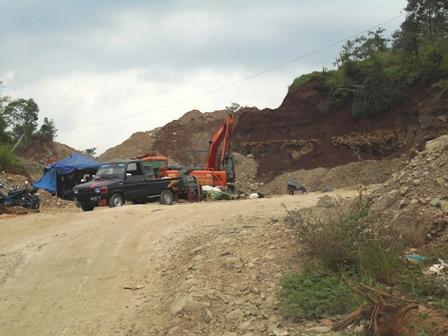 Ilustrasi. Lokasi Penggalian Pasir di Cimareme Garut.