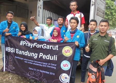 Universitas BSI Bandung, Peduli Korban Bencana.