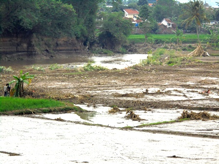 Amuk Sungai Cimanuk Juga Melibas Sekitar 93 Hektare Areal Pertanian.