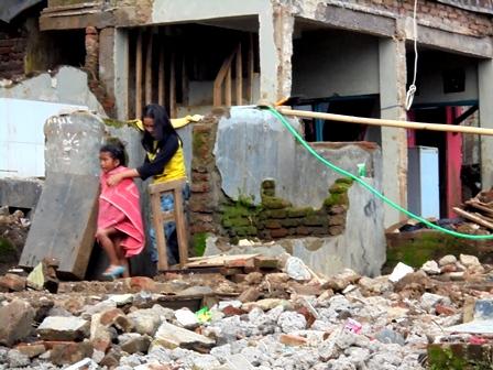 Masih Tempati Pemukiman Terdampak Bencana.